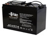 Raion Power RG121000I4 12V 100Ah Heavy Duty SLA AGM Battery