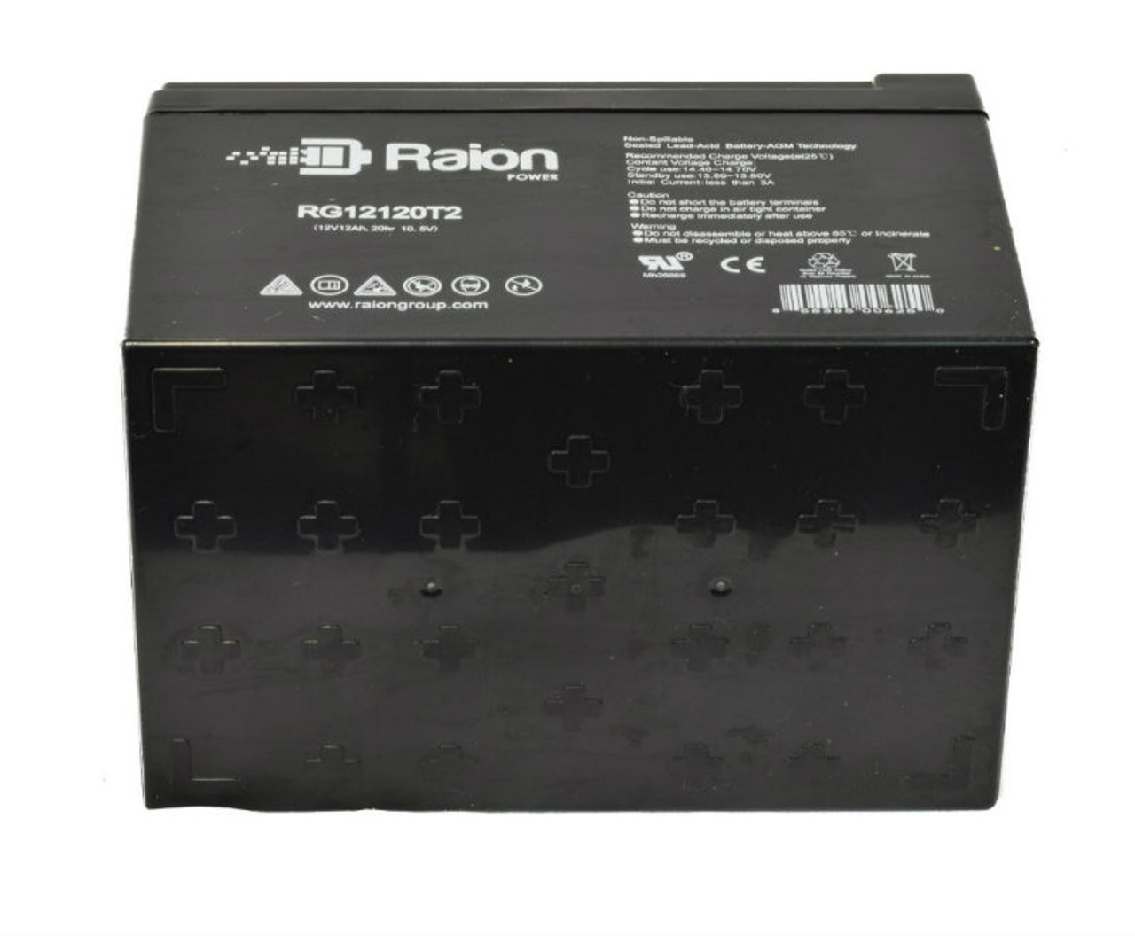 Raion Power RG12120T2 12V 12Ah Battery With Bottom Heat Dissipating Grips