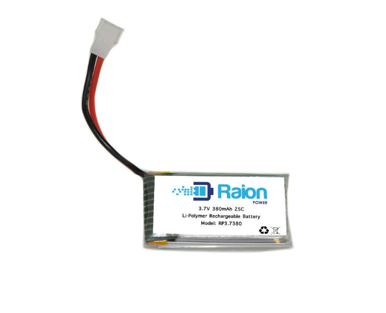 Raion Power RP3P7380 3.7V 380 mAh Lithium Polymer Drone Battery