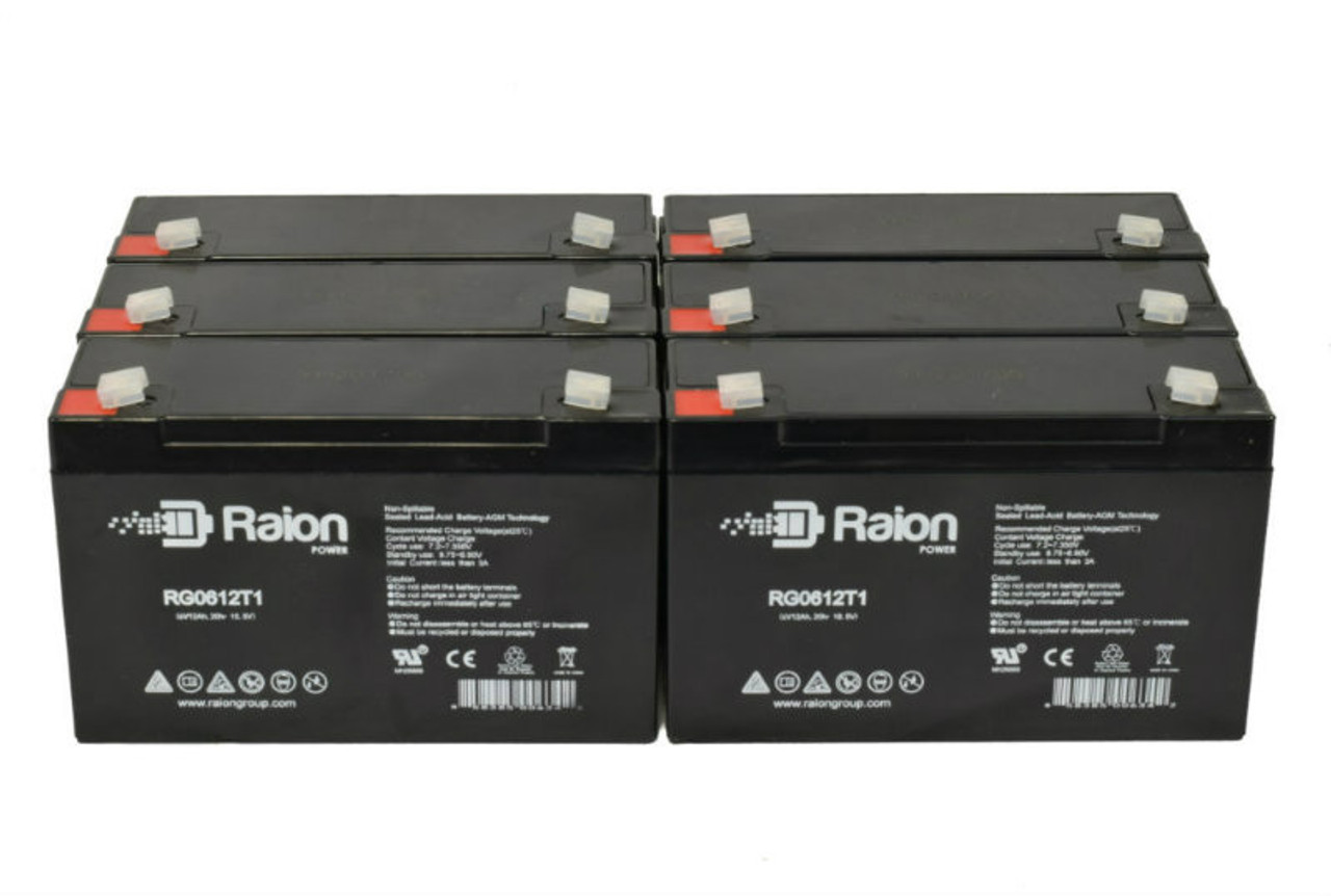 6V 12Ah RG06120T1 Replacement Battery for Holophane M12 (6 Pack)