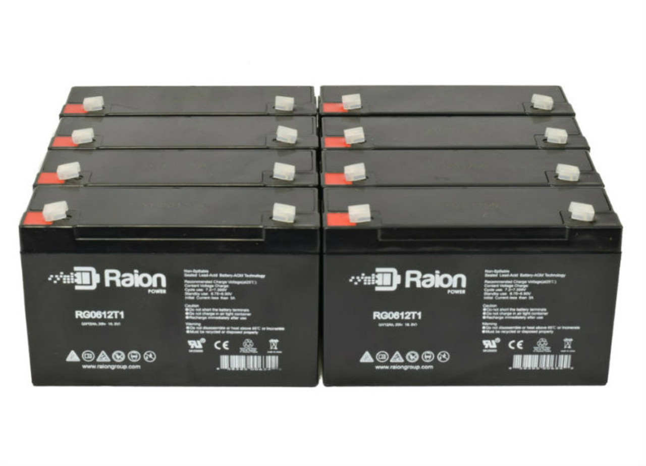 6V 12Ah RG06120T1 Replacement Battery for Light Alarms P12G1 (8 Pack)