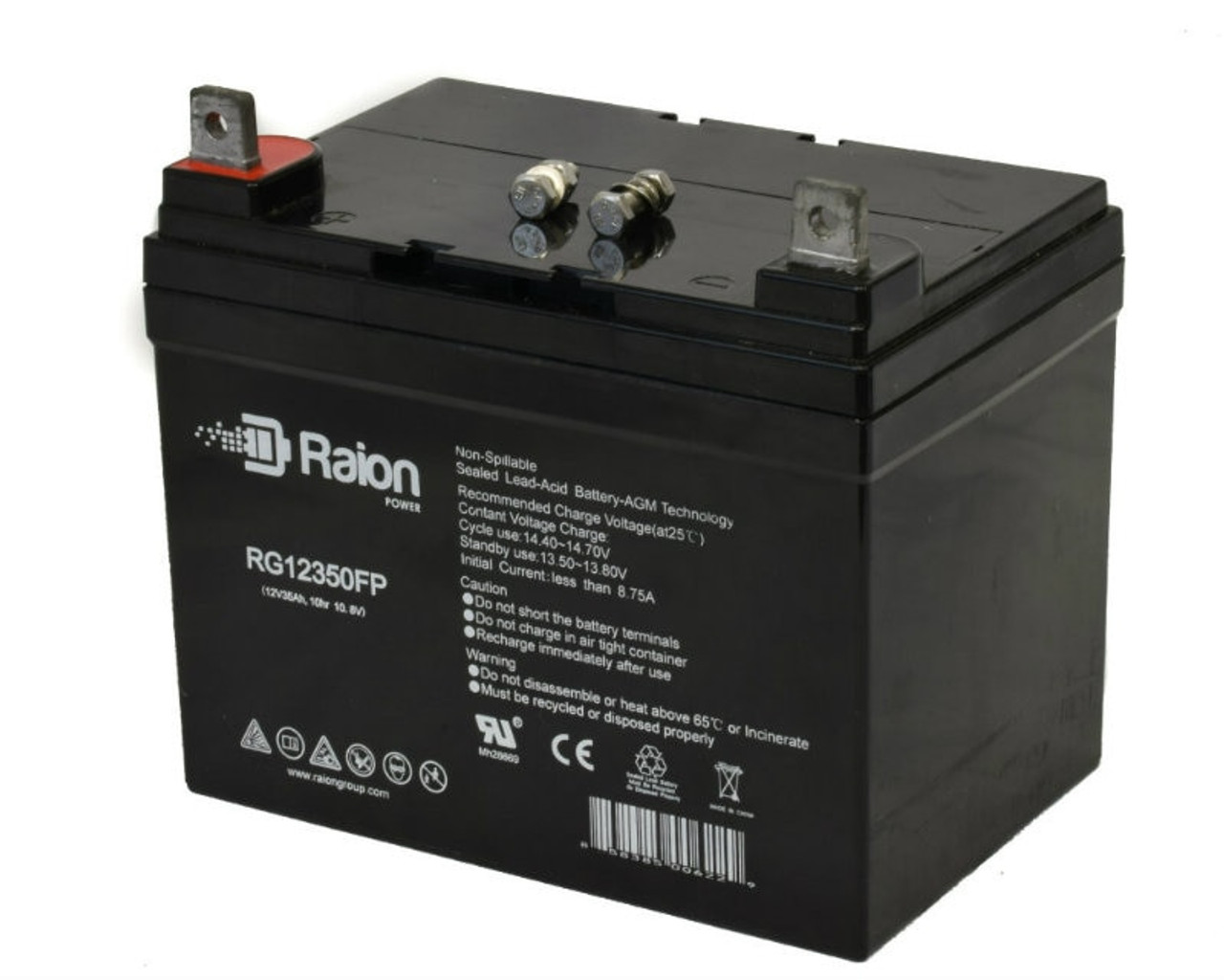 Raion Power RG12350FP 12V 35Ah Sealed Lead Acid Battery With FP Terminals