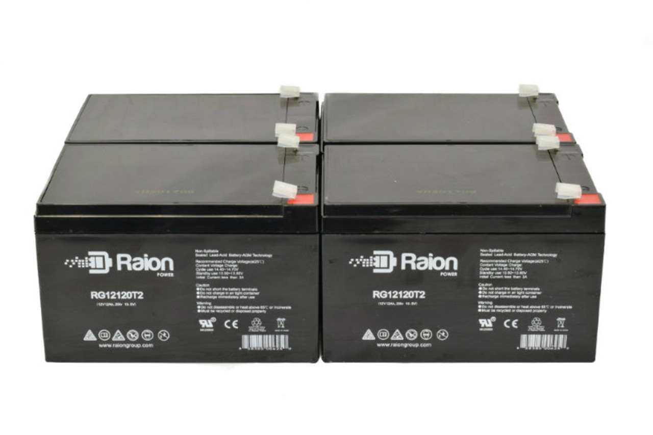 4 Raion Power RG12120T2 Replacement Batteries for ActiveCare Medical Spitfire 1420 Wheelchair