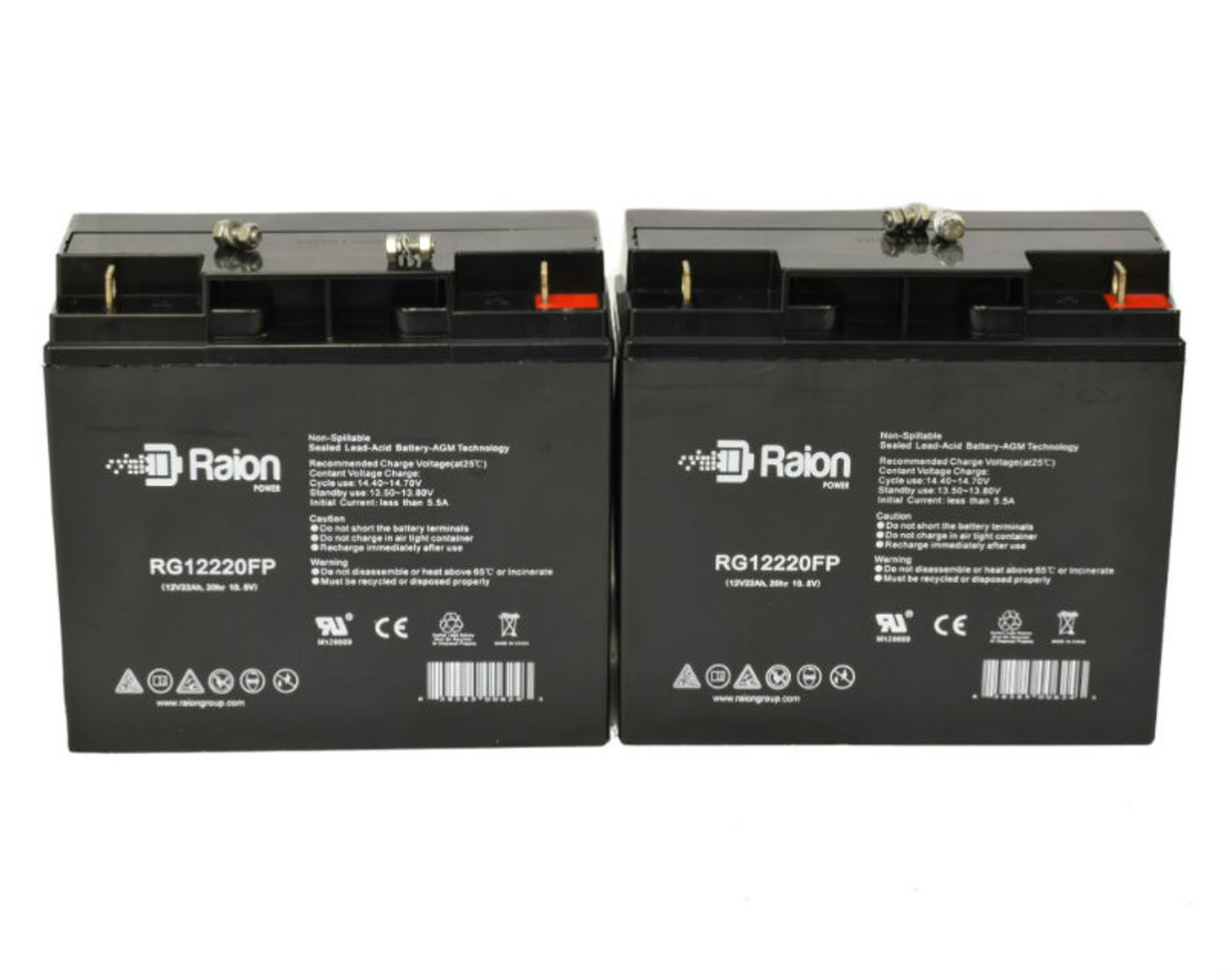 Raion Power RG12220FP Replacement Battery For Bruno Typhoon Wheelchair (2 Pack)