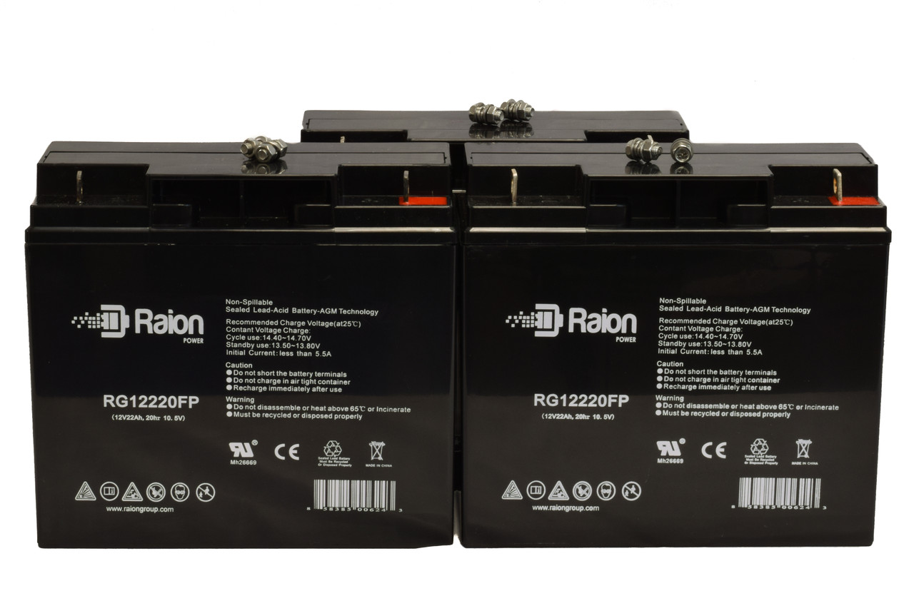 Raion Power RG12220FP Replacement Battery For Merits P320-Junior Wheelchair (3 Pack)