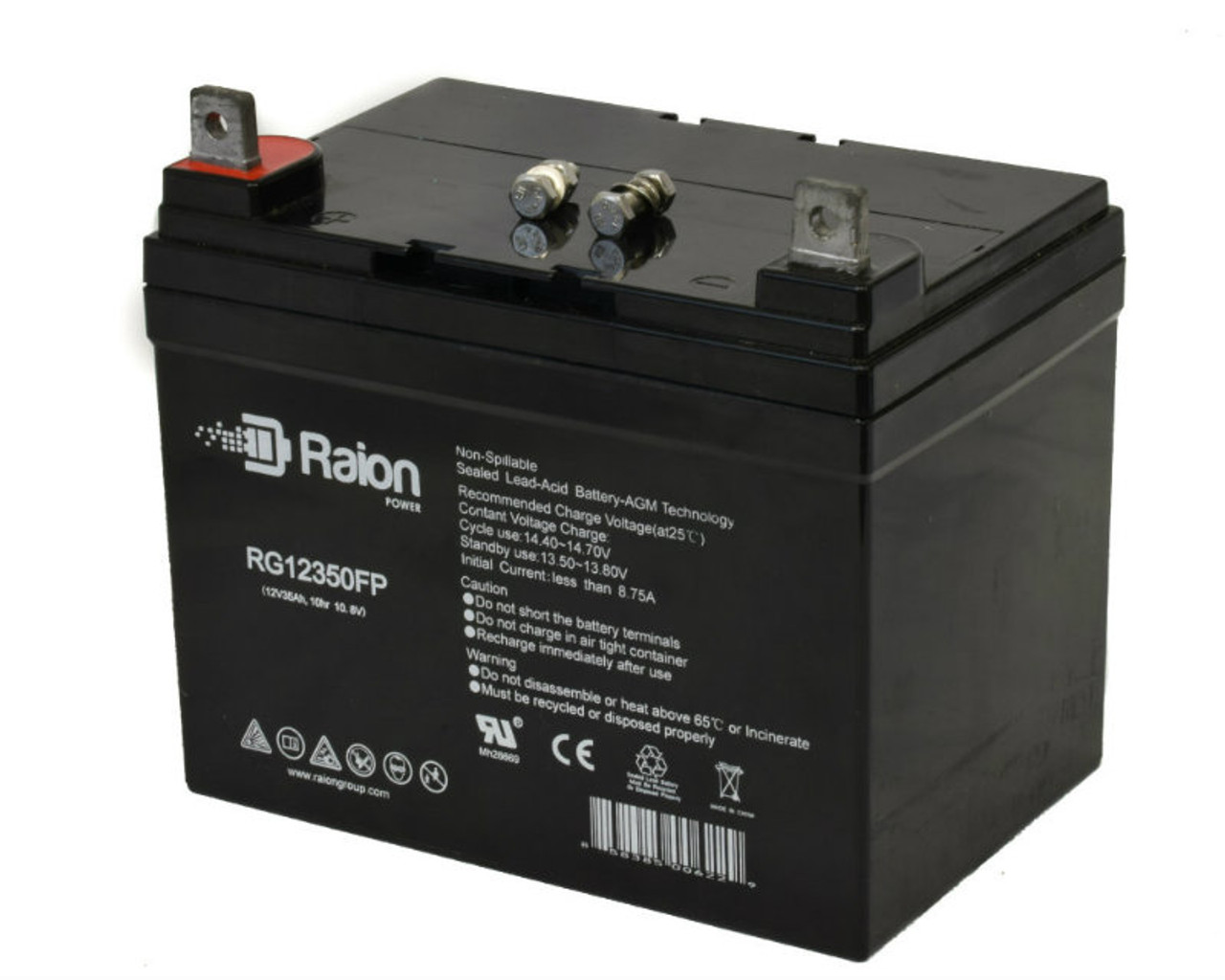 Raion Power RG12350FP Replacement Wheelchair Battery For Falcon Rehab ACT Ultra Low (1 Pack)