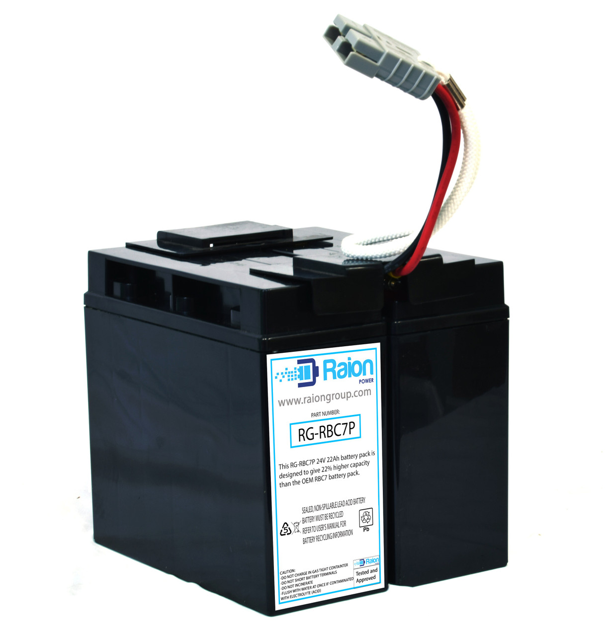 Raion Power RG-RBC7 Plus Replacement Battery Cartridge For APC BackUPS Pro 1400