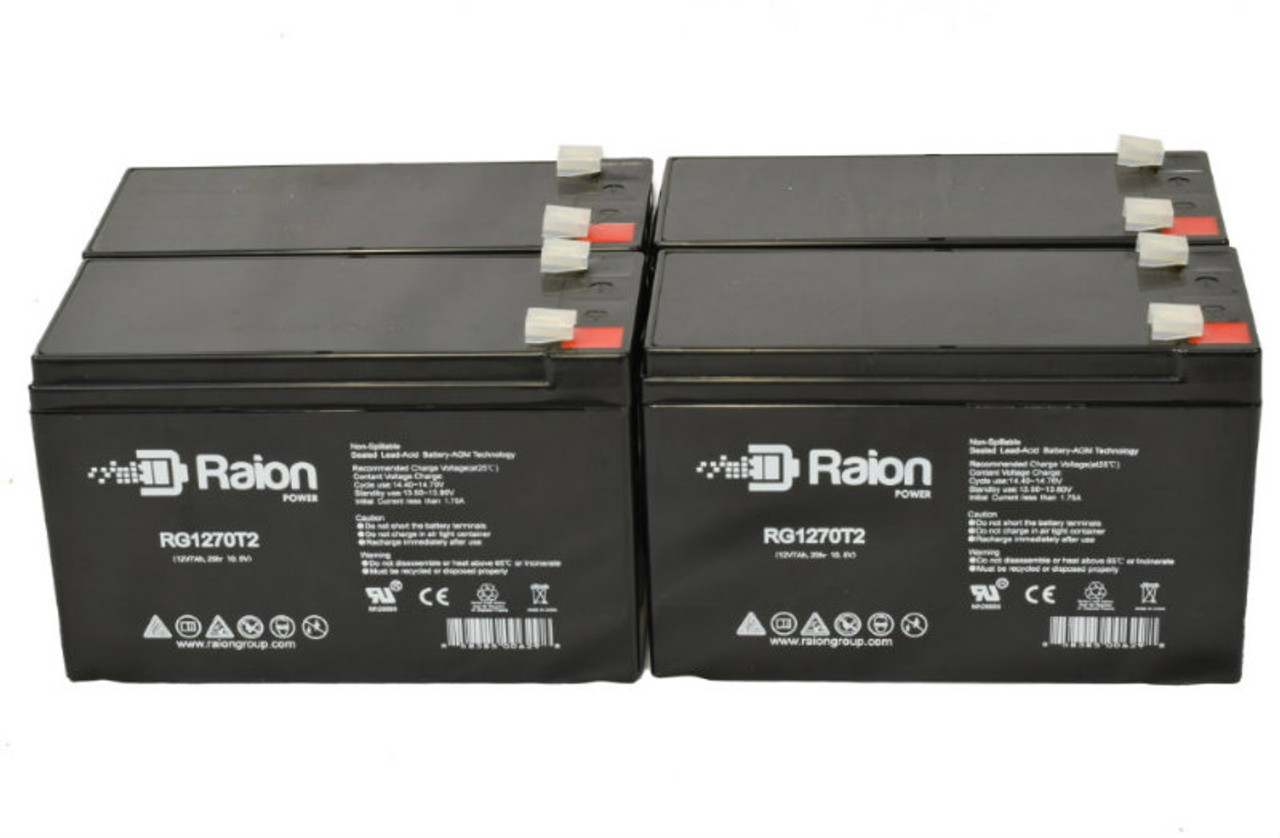 Raion Power RG1270T1 Replacement Battery Pack For Leoch Battery LP12-7.5 - (4 Pack)