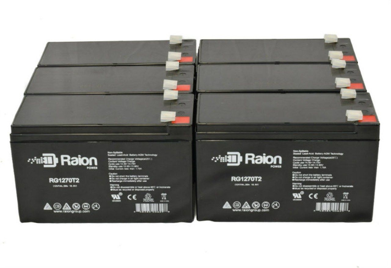 Raion Power RG1270T1 Replacement Battery Pack For OUTDO OT7-12 - (6 Pack)
