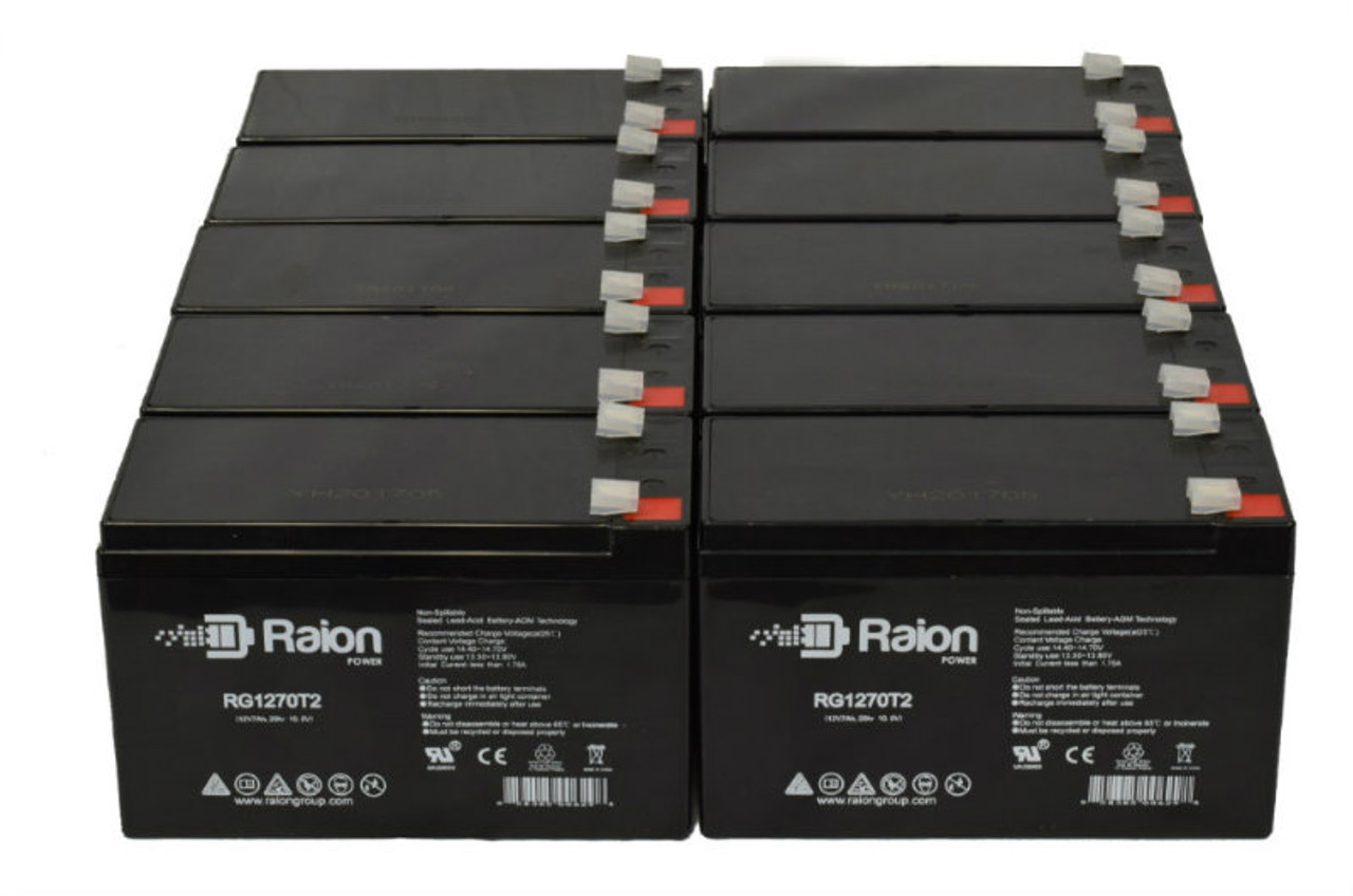 Raion Power RG1270T1 Replacement Battery Pack For Power Patrol SLA1075 - (10 Pack)