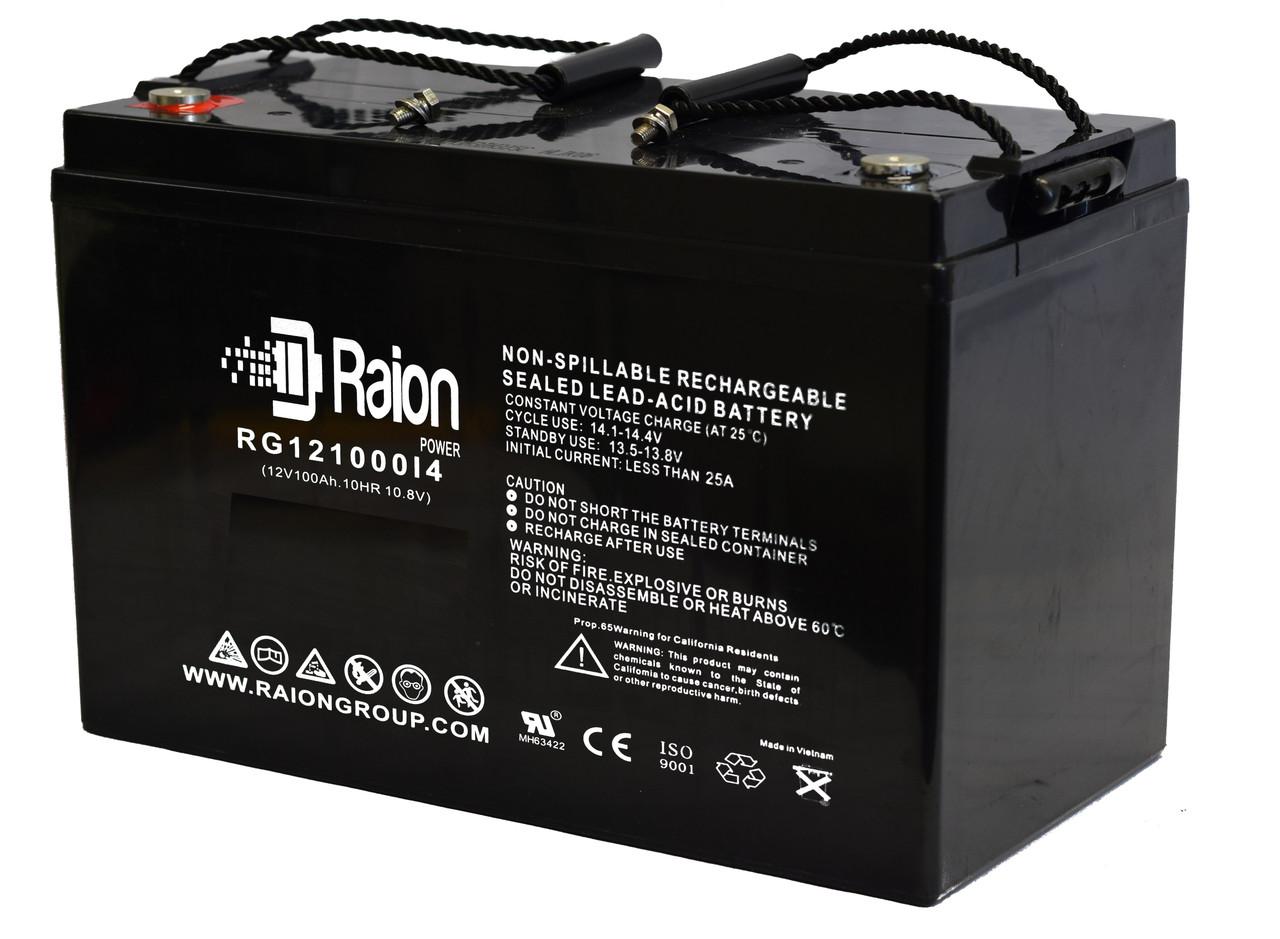 Raion Power RG121000I4 12V 100Ah Heavy Duty SLA AGM Battery