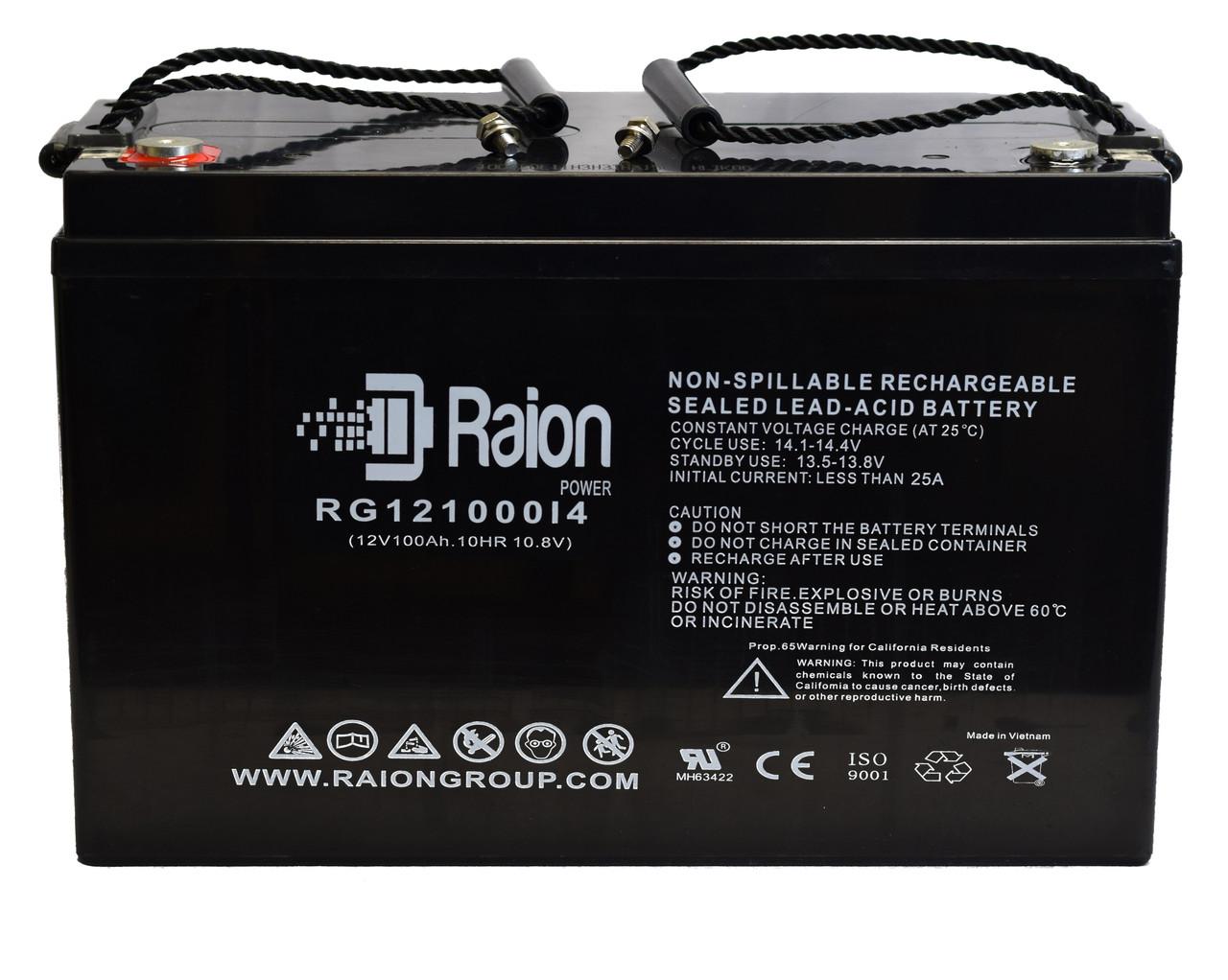12V 100Amp Raion Power RG121000I4 AGM Battery