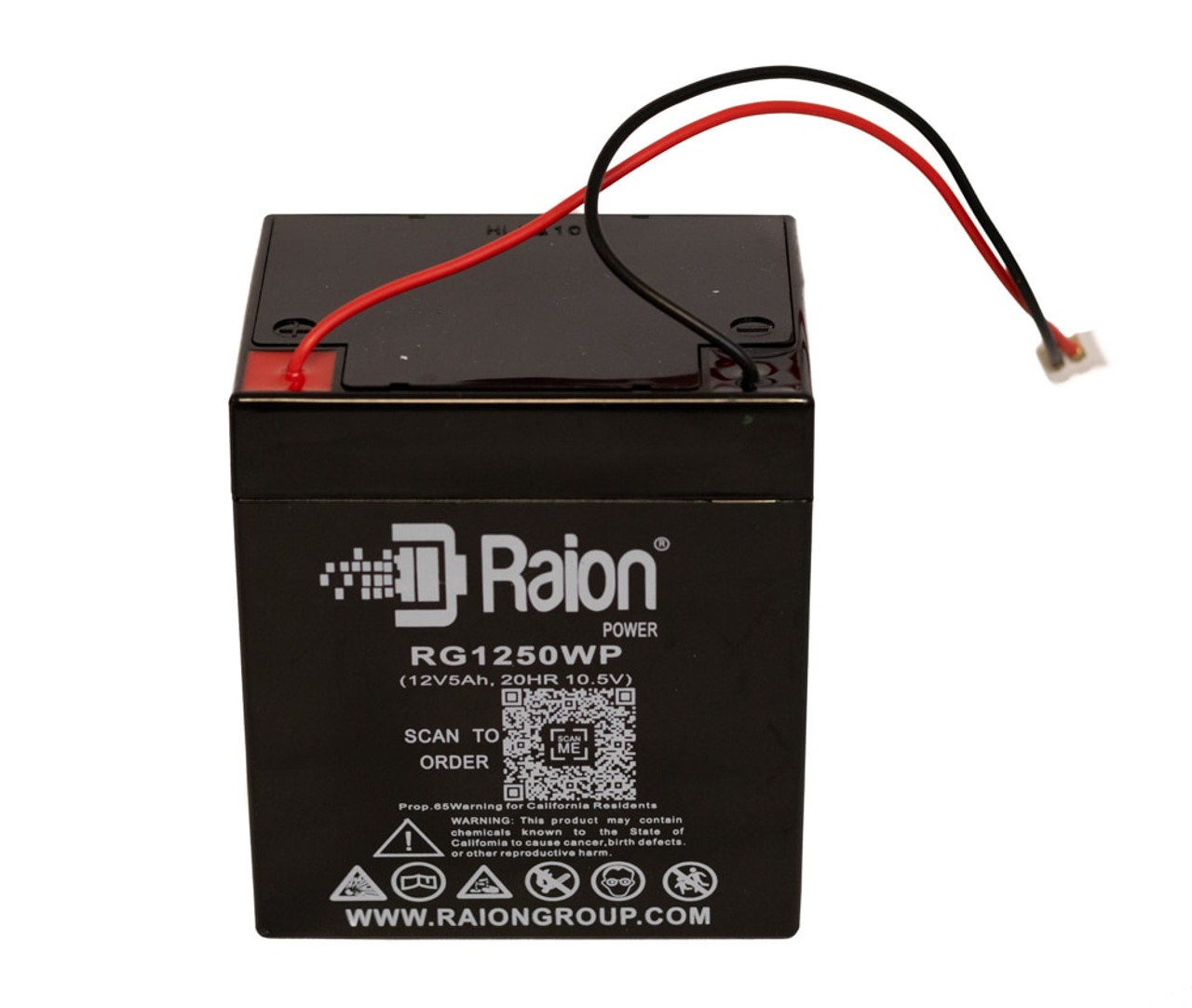 Raion Power 12 Volt 5Ah Upgraded Replacement Backup Garage Door Battery Fro Chamberlain and Liftmaster