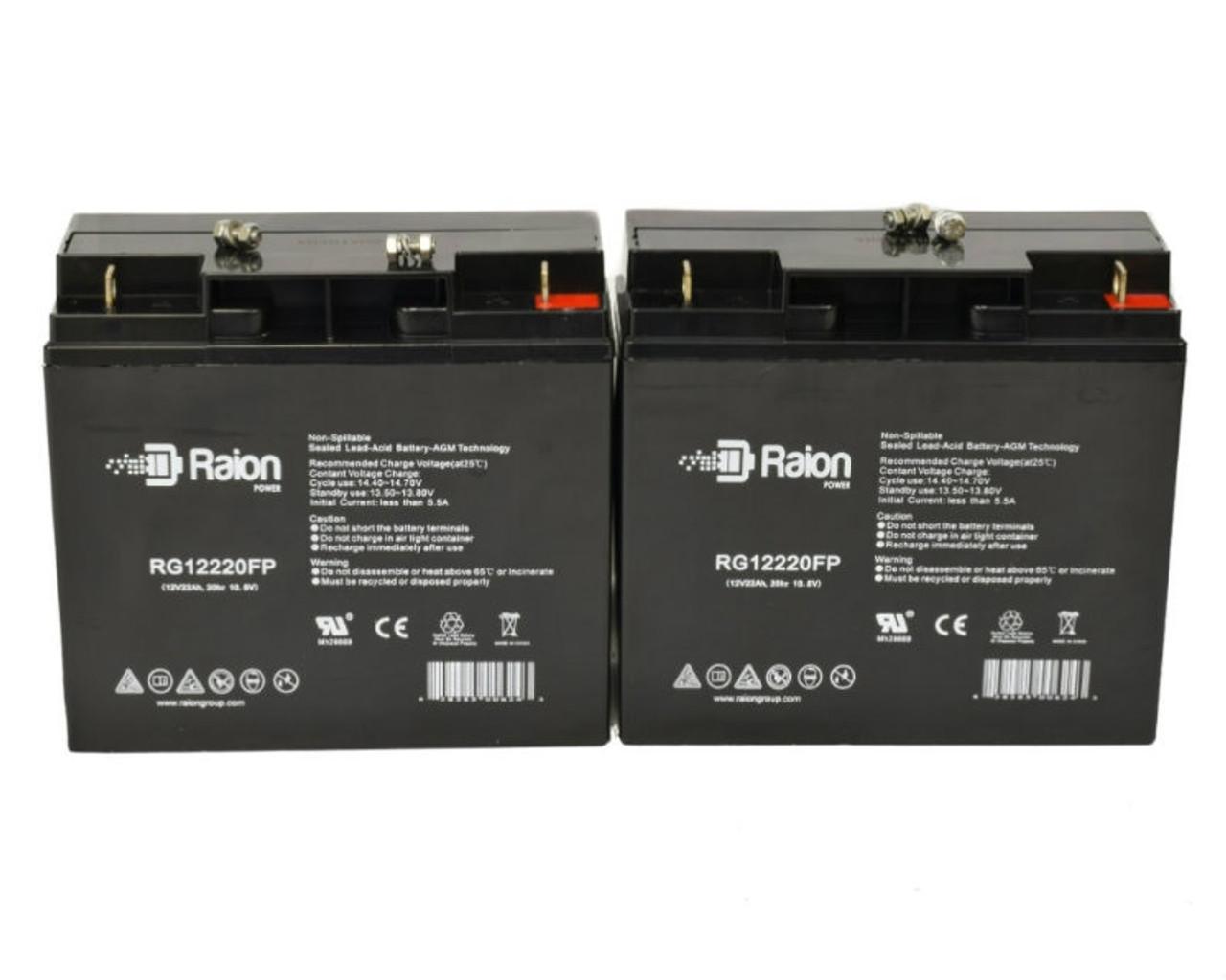 Set of 4 Alpha Technologies 2000RM UPS Replacement Batteries