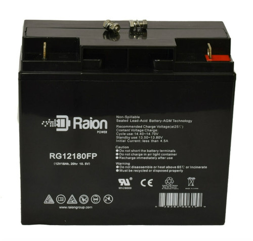 Raion Power 12V 18Ah AGM Battery With FP Terminals