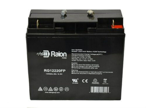 Raion Power 12V 22Ah AGM Battery With FP Terminals
