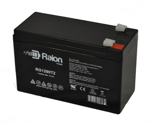 Raion Power RG1290T2 12V 9Ah Sealed Lead Acid Battery With T2 Terminals
