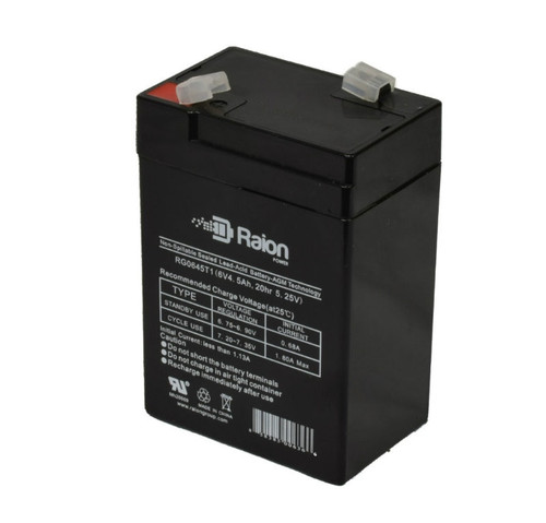 Raion Power RG0645T1 6V 4.5Ah Sealed Lead Acid Battery With T1 Terminals
