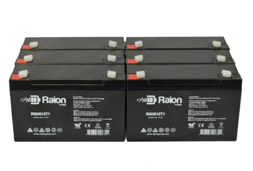 6V 12Ah RG06120T1 Replacement Battery for York-Wide Light D2E1 (6 Pack)