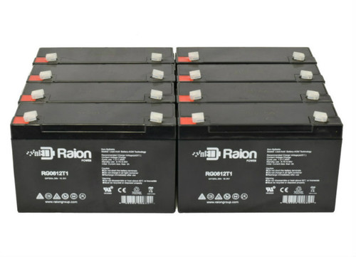 6V 12Ah RG06120T1 Replacement Battery for Sentry Lite SCR525EL (8 Pack)