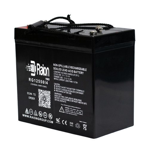 Raion Power RG12550I4 12V 55Ah Sealed Lead Acid Battery With I4 Terminals