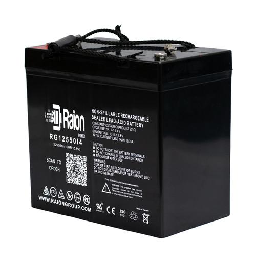 Raion Power RG12550I4 12V 55Ah Sealed Lead Acid Battery With I4 Terminals
