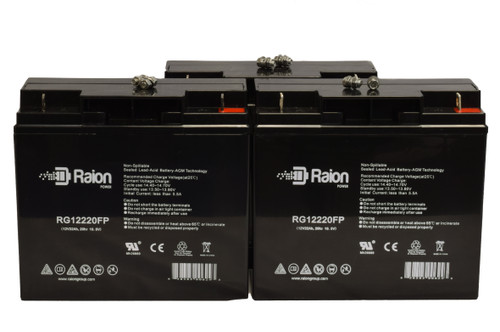 Raion Power RG12220FP Replacement Battery For Damaco D90 Wheelchair (3 Pack)