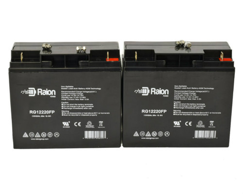 Raion Power RG12220FP Replacement Battery For EV Rider Super Light 3 Wheelchair (2 Pack)