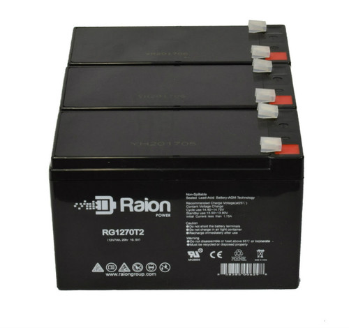 Raion Power RG1270T1 Replacement Battery Pack For Panasonic LCR12V6.5BP - (3 Pack)