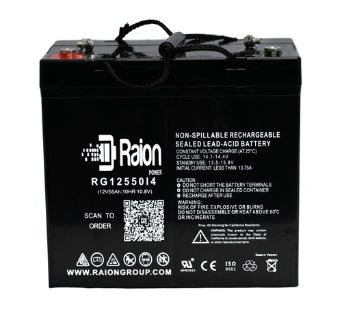 RG12550I4 Sealed Lead Acid Battery Pack For Invacare Arrow Storm RX (16 Inch or wider) Mobility Scooter