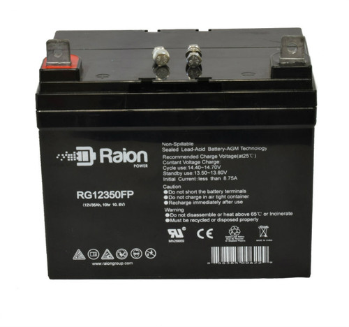 RG12350FP Sealed Lead Acid Battery Pack For Clipper 1706 KAT Riding Lawn Mower