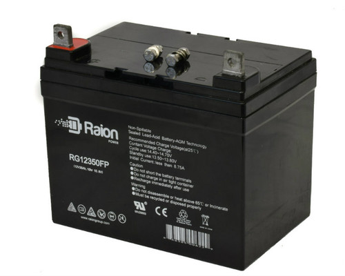 Raion Power RG12350FP Replacement Battery For Power King 1220HV Lawn Mower - (1 Pack)