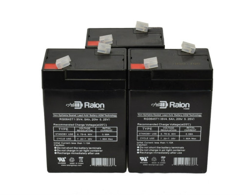 Raion Power RG0645T1 Replacement Battery For Monaghan Medical Respiratory Therapy Unit (3 Pack)