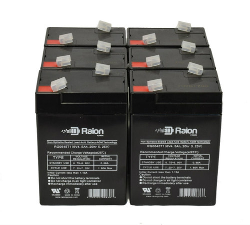 Raion Power RG0645T1 Replacement Battery For Baxter Healthcare 2001 Microate Inf Pump (6 Pack)