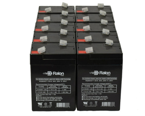 Raion Power RG0645T1 Replacement Battery For Parks Medical 1050 Doppler (Newer Models) (10 Pack)