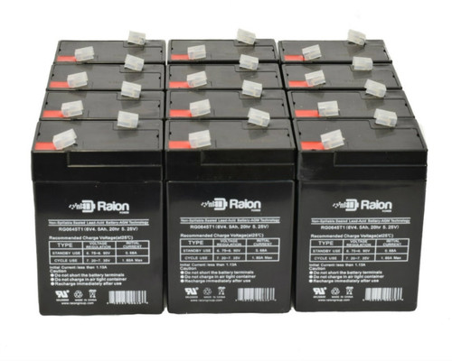 Raion Power RG0645T1 Replacement Battery For Parks Medical 1050 Doppler (Newer Models) (12 Pack)