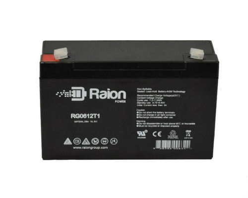Raion Power RG0612T1 SLA Medical Battery for AVI Centrifuge Pump
