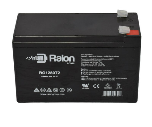 Raion Power 12V 8Ah Medical Battery For Physio Control 650 (RBC2)