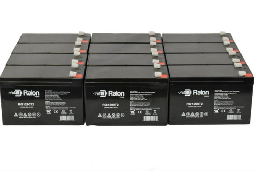 Raion Power 12 Volt 9 Ah Replacement Electric Scooter & Bicycle Battery For City Mantis Scooter - (12 Pack)