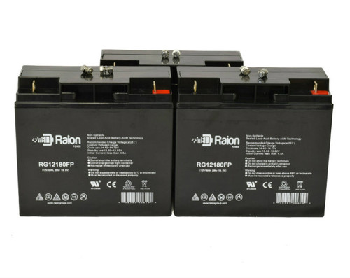 Raion Power RG12180FP Replacement Battery for Lobster E881 Tennis Ball Machine - (3 Pack)