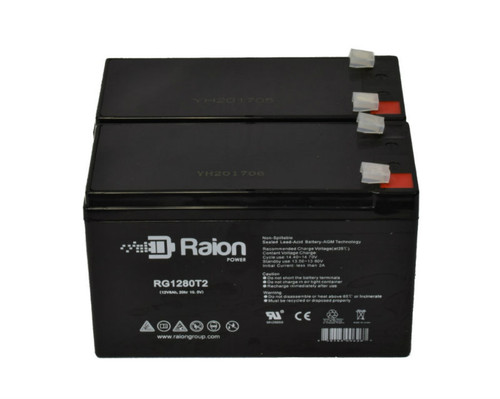 RG1280T2 Sealed Lead Acid OEM Replacement Batteries For Prince Little Prince Model 1 Tennis Ball Machine