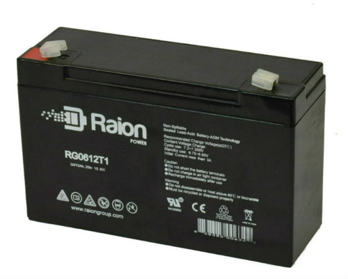 Raion Power RG0612T1 Replacement Battery for Optronics Spotlight A50121