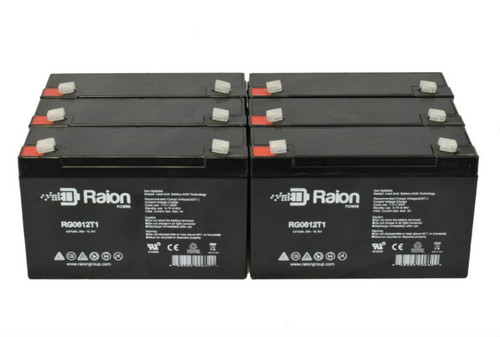Raion Power RG0612T1 Replacement Battery for Brinkmann Spotlight 450008700 - (6 Pack)