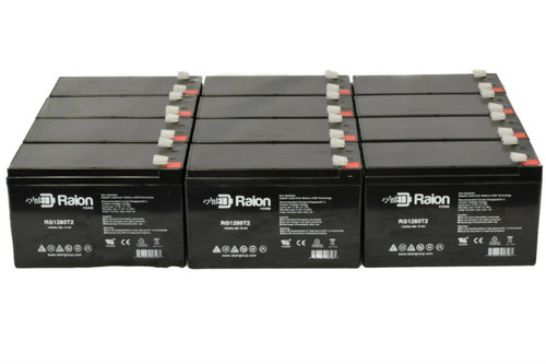 Raion Power RG1280T2 Replacement Battery For Wagan Tech 2741 18M Brite-Nite Mega Spotlight - (12 Pack)