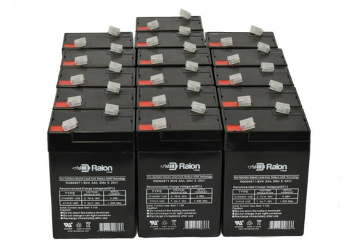 Raion Power RG0645T1 Replacement Battery For Parks Medical 1050 Doppler (Newer Models) (16 Pack)