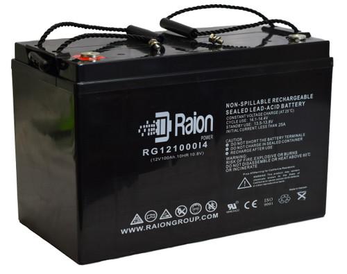 Raion Power 12V 100Ah Sealed Lead Acid Battery With I4 Terminals