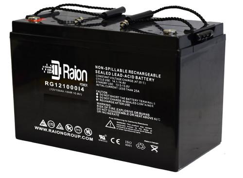 RG121000I4 12 Volt 100Ah SLA Battery With Internal Thread Terminals