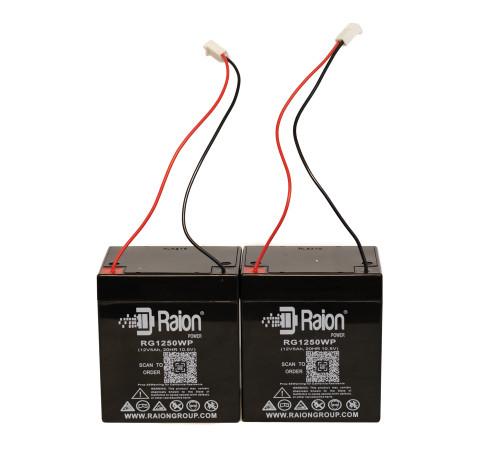 Raion Power 12V 5Ah Replacement Battery For Chamberlain & Liftmaster External Backup Battery Units