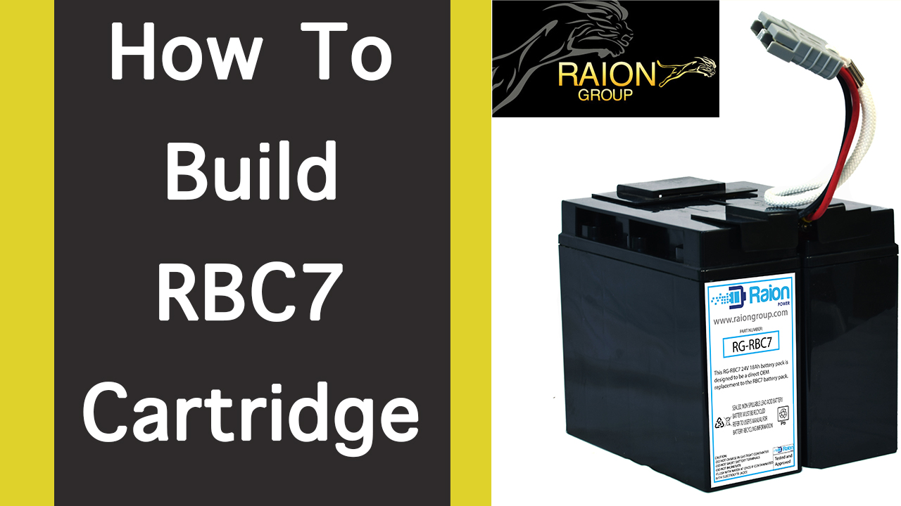 How To Assemble RBC7 Plus Replacement Battery Kit For APC Smart Backup UPS Systems
