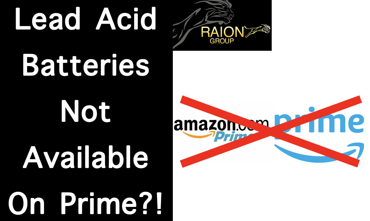 Why Raion Power Lead Acid Batteries Are Not Available For Sale On Amazon Prime